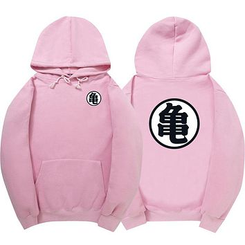 WIPU Good quality Hot Dragonball Hoodies Son Goku Sun Wukong Winter Fleece Mens Sweatshirt Streetwear Pink Pullover black hoodie