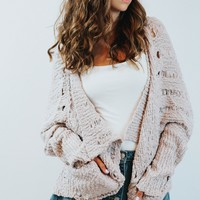 Feels Cardigan (Mauve)
