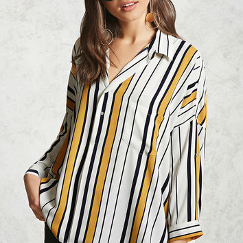 Striped Chiffon Shirt