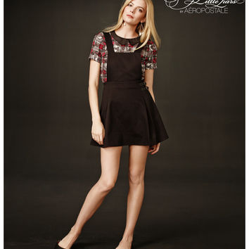 Aeropostale Pretty Little Liars Spencer Solid Skirtall - Black,