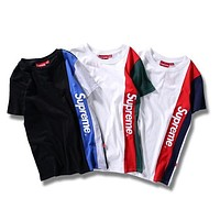 Supreme Unisex Colorful T-shirts Bottoming Shirt [11501026060] I