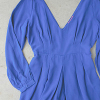 By the Bay Romper in Royal : Vintage Inspired Clothing & Affordable Dresses, deloom | Modern. Vintage. Crafted.