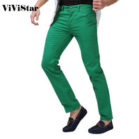 Men's Jeans Solid Candy Color