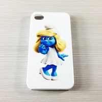 Lovely Smurfs Smurfette iPhone 5/5S/5C/4/4S Rubber Case,iPod Touch 5/4 Hard Case,Samsung Galaxy S3/S4 Rubber Case,S2/Note 2 Hard Cover