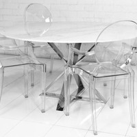 www.roomservicestore.com - Cris-Cross Marble Dining Table