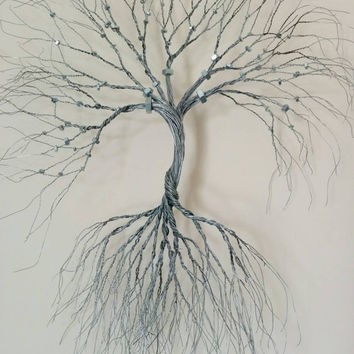 Silver Wire wall Art tree of life  ( wall decoration). Decorative wire art,wall art, wall decoration