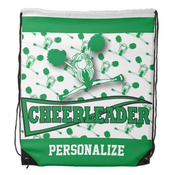 Cheerleader Personalize Backpacks -Green