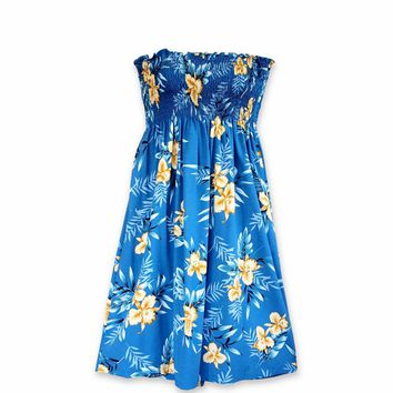 Midnight Blue Moonkiss Hawaiian Dress