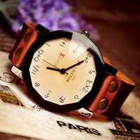 Wrist watch Handmade Wristwatches Vintage Ladies Girls Womens Mens Leather Bangle Bracelet Quartz Numbers (WAT0005)