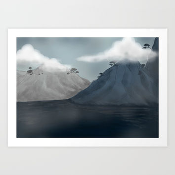 Dull Hills Art Print by ellien.