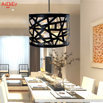 Creative Black Nest Lamps Modern Minimalist Restaurant Dining Chandeliers Lighting Bar Personality Lamps Delivery