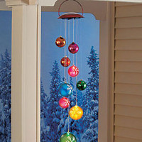 Solar Lighted Hanging Holiday Ornament Mobile Outdoor Christmas Decoration Decor