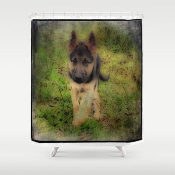 shep Shower Curtain by Jessica Ivy