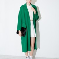 Long Green Blazer Jacket