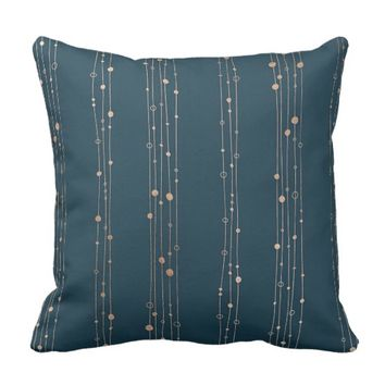 Strings and Beads Throw Pillow