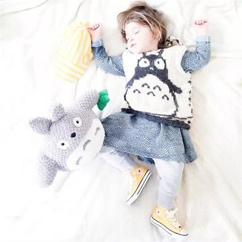 Autumn Children Kawaii Totoro Knitting Sweaters For Baby Girls Boys Kids Pattern Knitted Toddlers Swearshirt Girl Kids Clothes