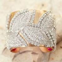 Supermarket: Silver beaded cuff bracelet from Jenny Dayco