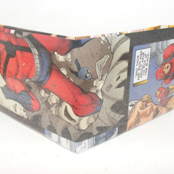 Comic Book Wallet// Avengers// Giant-Man, Thor, and Iron Man