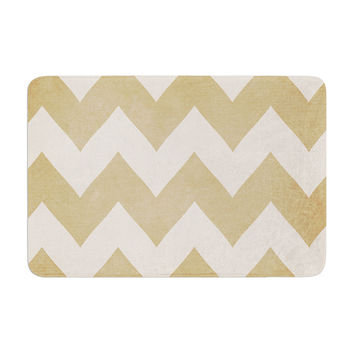 "Catherine McDonald ""Biscotti and Cream"" Chevron Memory Foam Bath Mat"