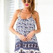 Blue Gypsy Print Dress - Delilah