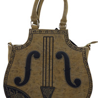 Gothic Lolita Vintage Steampunk Violin Embroidered Bag