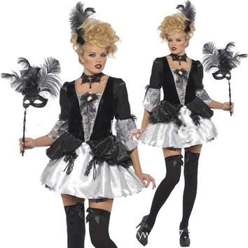 New high quality ghost festival rave party ghost mother play coco play black dress witch costume female adults