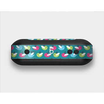 The Vibrant Colored Vector Bird Collage Skin Set for the Beats Pill Plus
