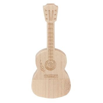 Hot Selling 2016 Fashion PC Accessories  Sale Wooden USB 3.0 32GB Flash Drive Pen Drives Wood Guitar U Disk