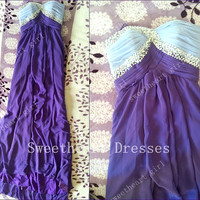 Multi Colours Elegant Sheath Floor-length Sweetheart Graduation Dress