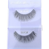 6 Pairs Crème 100% Human Hair Natural False Eyelash Extensions Black #747M