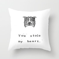 You Stole My Heart Anatomy Print Throw Pillow by Blue Specs Studio | Society6