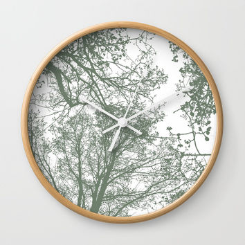 Abstract Trees Wall Clock by ARTbyJWP
