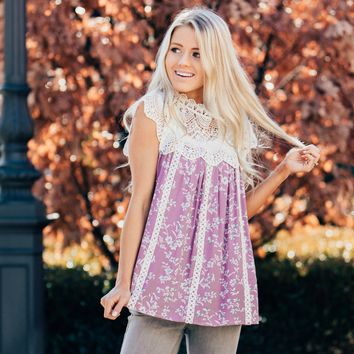 Mia Floral Blouse   Spring Floral and Lace Top