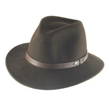 "The ""Outback"" Olive brown - Adventures Fedora"