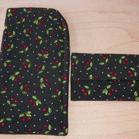 Black Cherry Sunglass Case and Card Case Matching Gift Set for Mom