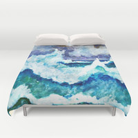 Stormy Sea Duvet Cover by gretzky