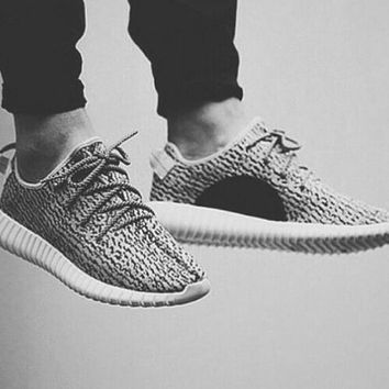 """Adidas"" Yeezy Boost Stylish Women Men Personality Sneakers Running Sports Shoes Grey I"