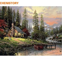 CHENISTORY  Painting  Numbers  Decor  Painted  Landscap