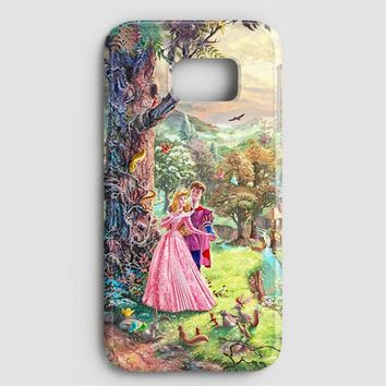Sleeping Beauty Walt Disney Art Painting Samsung Galaxy S7 Case