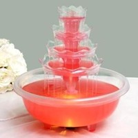 5 Tier Wedding Fountain with Lights for Party Decorations