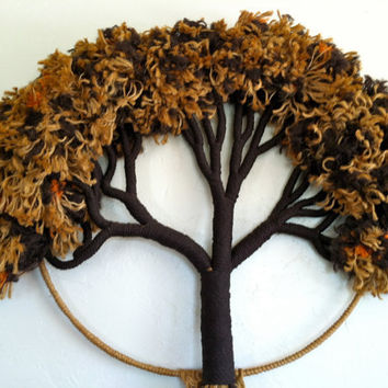 Amazing Tree of Life Fiber Art Wall Hanging by HotCoolVintage