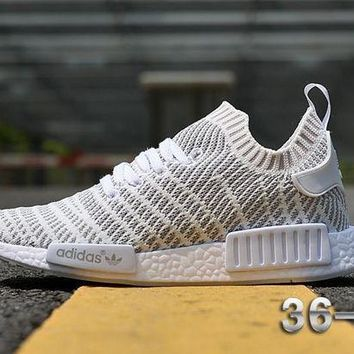 ESBON Best Online Adidas NMD R1 Stlt Spring Summer 2018 Line up White Running Sport Shoes Camouflage Sneakers  Casual Shoes