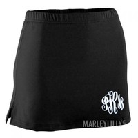 Monogrammed Athletic Skirt | Marleylilly
