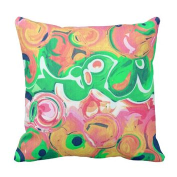Fruity Swirls Throw Pillow