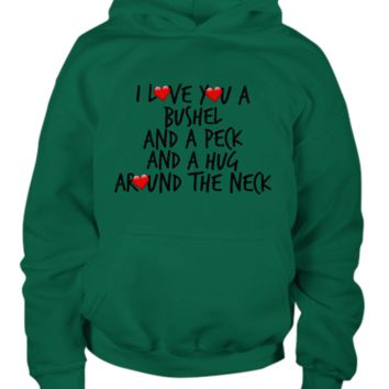 Love You Bushel & Peck Small Hearts Youth Hoodie