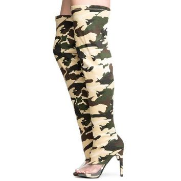 DCCKLP2 Cape Robbin Lola-15 Women's Camo Thigh High Boots