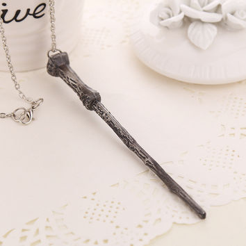 Harry Potter Wand Necklaces - Harry Potter, Dumbledore, Voldemort & Hermione