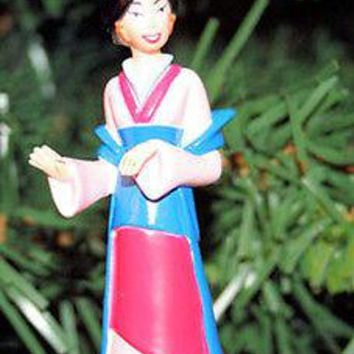 Licensed cool NEW Disney Chinese Princess MULAN Kimono Outift Christmas Holiday Ornament PVC