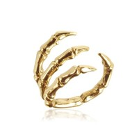 Bernard Delettrez Designer Rings Golden Brid Claw Bronze Ring