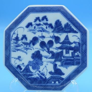 Canton Mottahedeh Tea Tile Vintage Blue & White Large Trivet Historic Charleston Reproductions Tile Vista Alegre Portugal Tile Gift for Her
